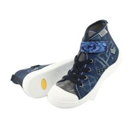 Încălțăminte pentru copii Befado 268Y071 albastru marin albastru gri 4