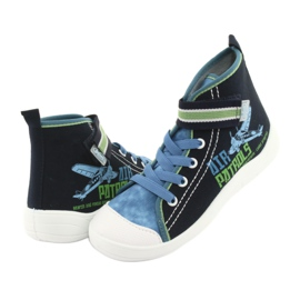 Încălțăminte pentru copii Befado 268Y066 albastru marin albastru verde 3