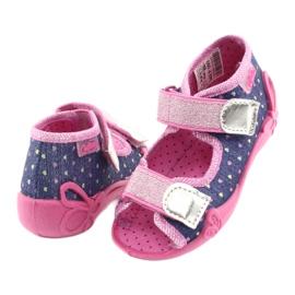 Încălțăminte pentru copii Befado 242P093 albastru marin roz gri 3