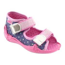 Încălțăminte pentru copii Befado 242P093 albastru marin roz gri 1