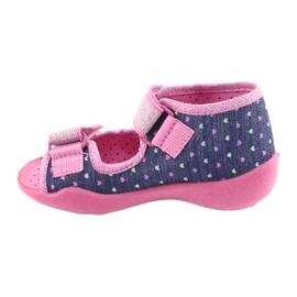 Încălțăminte pentru copii Befado 242P093 albastru marin roz gri 2