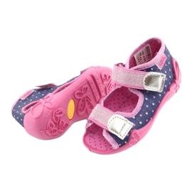Încălțăminte pentru copii Befado 242P093 albastru marin roz gri 4