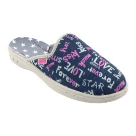 Pantofi pentru copii Befado colorate 707Y397 albastru marin roz gri 1