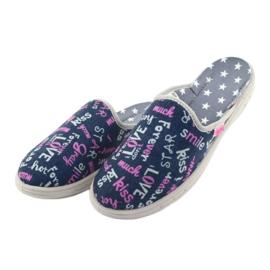 Pantofi pentru copii Befado colorate 707Y397 albastru marin roz gri 3