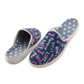 Pantofi pentru copii Befado colorate 707Y397 albastru marin roz gri 5