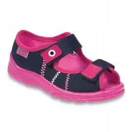 Încălțăminte pentru copii Befado 969Y105 albastru marin roz 1