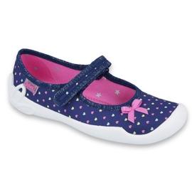 Încălțăminte pentru copii Befado 114Y372 albastru marin roz 1