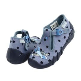 Pantofi pentru copii Befado colorate 110P345 albastru marin albastru 4