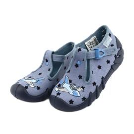 Pantofi pentru copii Befado colorate 110P345 albastru marin albastru 3
