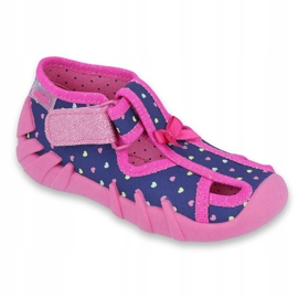 Încălțăminte pentru copii Befado 190P092 albastru marin roz 1