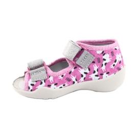 Încălțăminte pentru copii Befado 242P095 alb negru roz gri 1