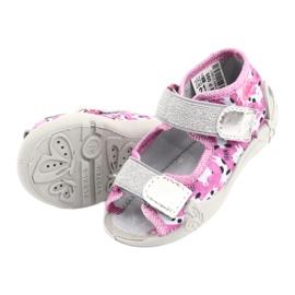 Încălțăminte pentru copii Befado 242P095 alb negru roz gri 4