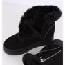 Cizme negre de zăpadă pe blană PP-30 Negru 2