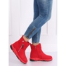 Cizme roșii în stil sport SJ1938 Roșu 4