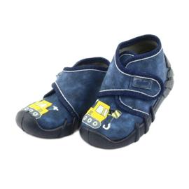 Încălțăminte pentru copii Befado 525P012 albastru marin galben 3