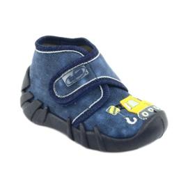 Încălțăminte pentru copii Befado 525P012 albastru marin galben 1