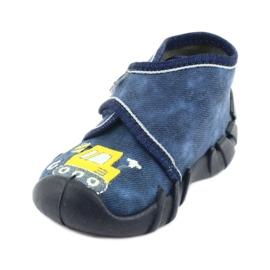 Încălțăminte pentru copii Befado 525P012 albastru marin galben 2