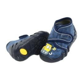 Încălțăminte pentru copii Befado 525P012 albastru marin galben 4