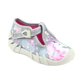 Încălțăminte pentru copii Befado 110P363 roz gri 2