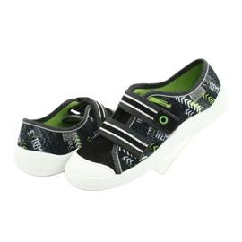 Încălțăminte pentru copii Befado 672Y069 negru gri verde 4