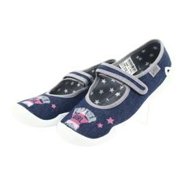 Încălțăminte pentru copii Befado 114Y369 albastru marin albastru gri multicolor 4