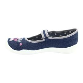 Încălțăminte pentru copii Befado 114Y369 albastru roz gri 2