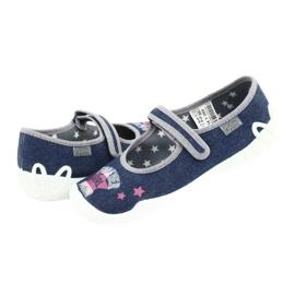 Încălțăminte pentru copii Befado 114Y369 albastru roz gri 4