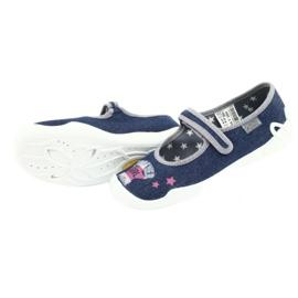 Încălțăminte pentru copii Befado 114Y369 albastru roz gri 5