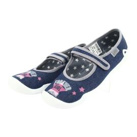 Încălțăminte pentru copii Befado 114Y369 albastru roz gri 3
