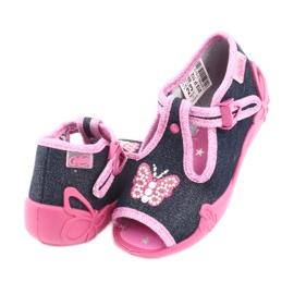 Încălțăminte pentru copii Befado 213P112 albastru marin roz gri 4