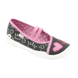 Încălțăminte pentru copii Befado 116X257 roz gri 1