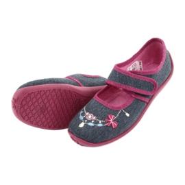 Încălțăminte pentru copii Befado 945Y289 albastru marin multicolor roz 4