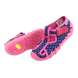 Încălțăminte pentru copii Befado 190P092 albastru marin roz 6