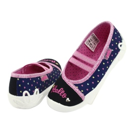 Încălțăminte pentru copii Befado 116X255 albastru marin roz 4