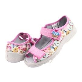 Pantofi pentru copii Befado 969X142 roz multicolor 5