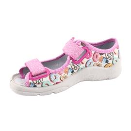 Pantofi pentru copii Befado 969X142 roz multicolor 3