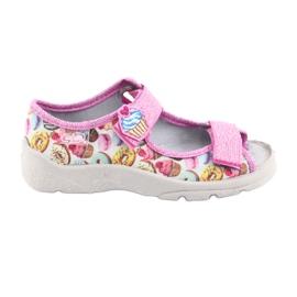 Pantofi pentru copii Befado 969X142 roz multicolor 1