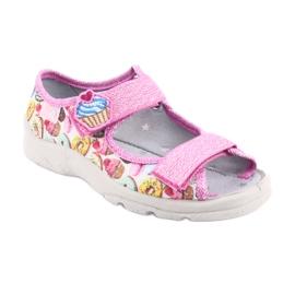 Pantofi pentru copii Befado 969X142 roz multicolor 2