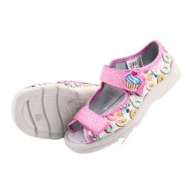 Pantofi pentru copii Befado 969X142 roz multicolor 6