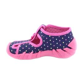 Încălțăminte pentru copii Befado 190P092 albastru marin roz 2