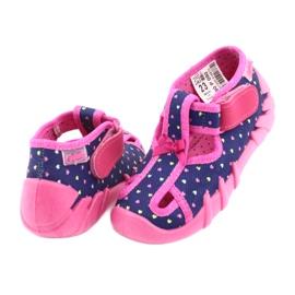 Încălțăminte pentru copii Befado 190P092 albastru marin roz 4