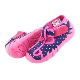 Încălțăminte pentru copii Befado 190P092 albastru marin roz 5