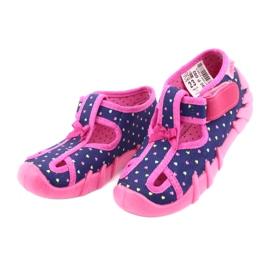 Încălțăminte pentru copii Befado 190P092 albastru marin roz 3