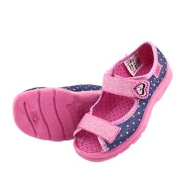 Pantofi pentru copii Befado 969X143 albastru marin roz 6