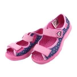 Pantofi pentru copii Befado 969X143 albastru marin roz 4