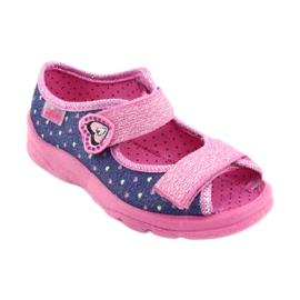 Pantofi pentru copii Befado 969X143 albastru marin roz 2