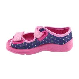 Pantofi pentru copii Befado 969X143 albastru marin roz 3