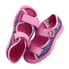 Pantofi pentru copii Befado 969X143 albastru marin roz 5