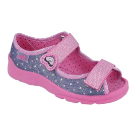 Pantofi pentru copii Befado 969X143 albastru marin roz 1