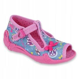 Pantofi pentru copii Befado roz 213P113 albastru multicolor 1